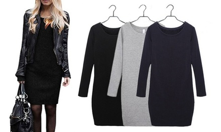Long Sleeve Casual Sweater Dress for £10.99