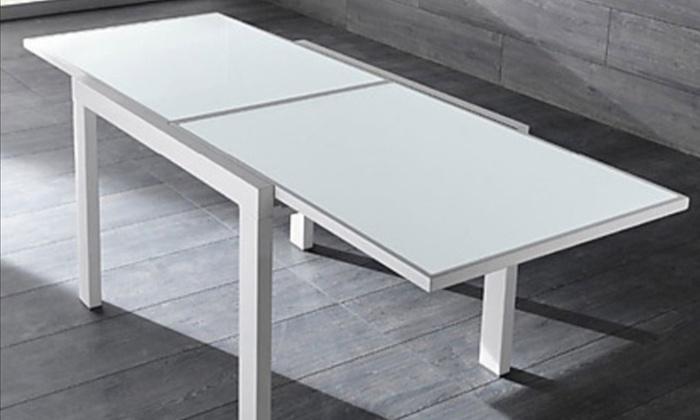 Tavolo allungabile con piano in vetro | Groupon