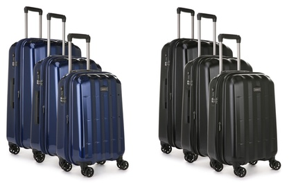 $399 for an Antler Global Three-Piece Expandable Polycarbonate Suitcase Set (Don't Pay $1107)