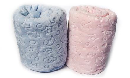 Couverture pour bébé épaisse, très douce, légère