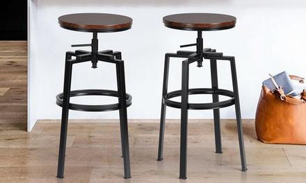 2 sgabelli da bar con struttura in metallo