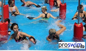 ProSwim: 8 Weeks of Unlimited Aqua Fitness Classes for One ($19) or Two People ($35) at ProSwim (Up to $480 Value)