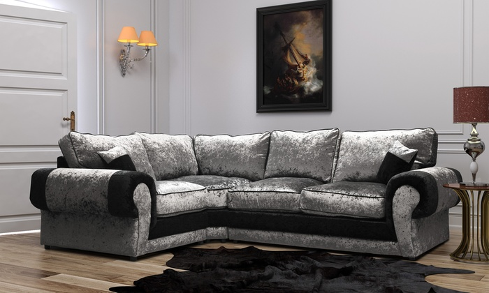 Madrid Medium Velvet Corner Sofa For 549 With Free Delivery 54 Off