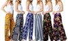 Acting Pro Women's Stretchy Wide-Leg Printed Palazzo Pants