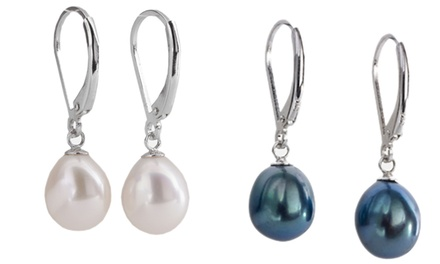 One or Two Pairs of Sterling Silver Pearl Drop Earrings