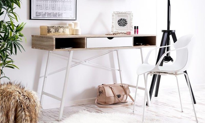 Scandinavian Style Desk 23% off loren desk in scandinavian style | groupon
