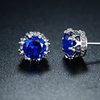 Blue Spinel Crown Stud Earrings by Sevil