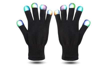 1, 2 o 4 pares de guantes con luces LED