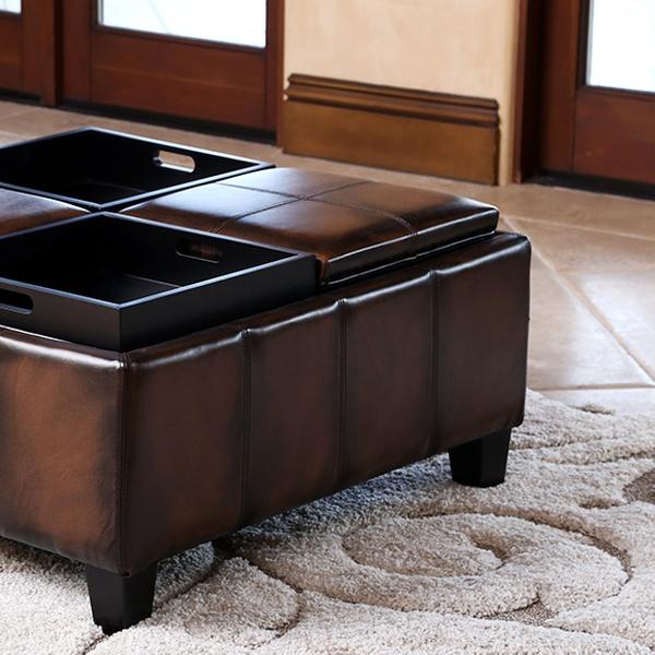 Enjoyable Abbyson Living Leather Or Faux Leather Storage Ottoman Creativecarmelina Interior Chair Design Creativecarmelinacom