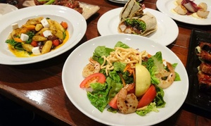 The Backyard Bar & Restaurant: Two-Course Lunch or Dinner for Two ($49) or Six People ($145) at The Backyard Bar & Restaurant (Up to $300 Value)