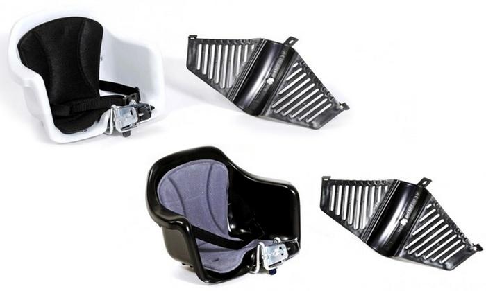 TitoloSeggiolino anteriore bici per bambini con kit di aggancio disponibile in 2 colori