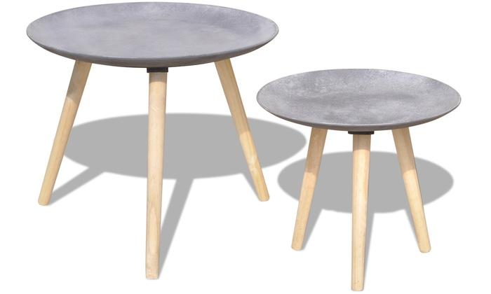 Tables Gigognes Effet Béton | Groupon