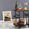 Baxton Studio Cynthia Rustic Industrial Mobile Side Table