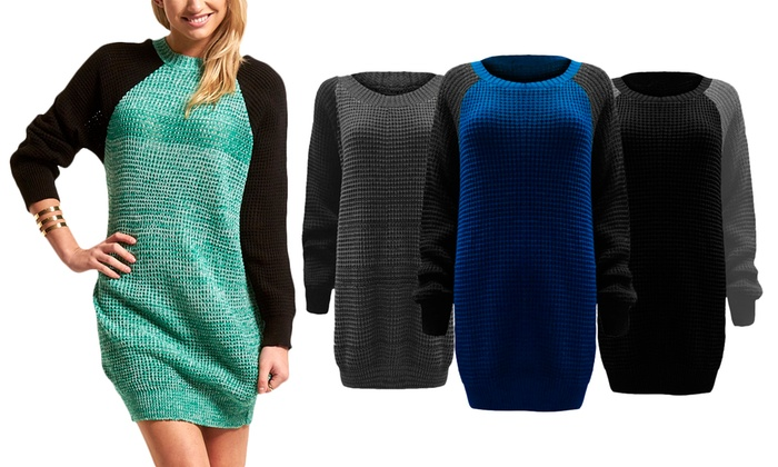 Contrast Sleeve Jumper in Choice of Colour