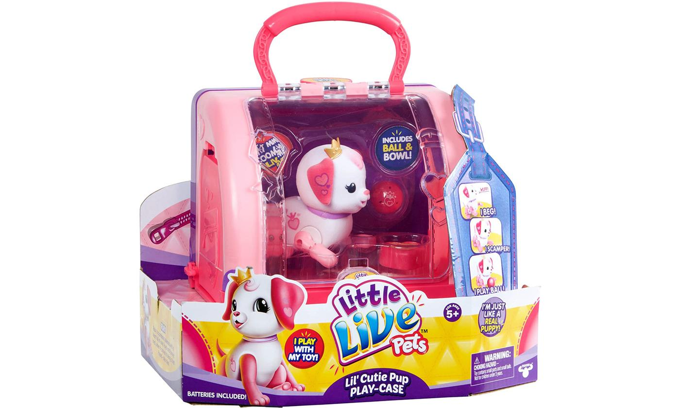 Moose Toys Little Live Pets Lil' Cutie Pups Play Case