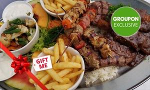 Galaxy Seafood & Mediterranean Restaurant: Mediterranean Platter for 1 ($35) or 4 People ($125) at Galaxy Seafood and Mediterranean Restaurant (Up to $338 Value)