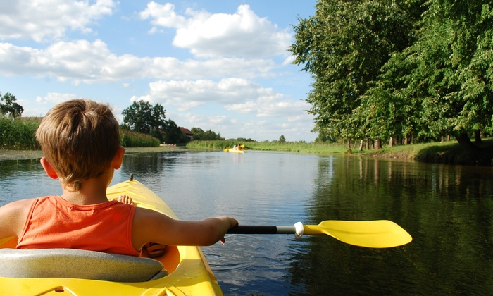 Thaxton's Canoe Trails - Butler: Kayak Rental and Training for 2 or 6- or 12-Mile Canoe Rental for 2 at Thaxton's Canoe Trails (Up to 59% Off)