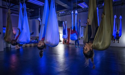 image for $16 for One Aerial Yoga Fundamentals Class at Stardust <strong>Fitness</strong> ($25)
