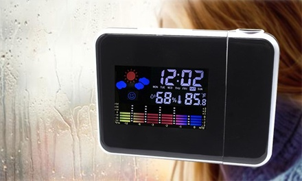 Digital Projector Alarm Clock with Weather Station: One $16 or Two $25