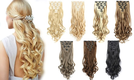 Seven-Piece Clip-In Hair Extensions