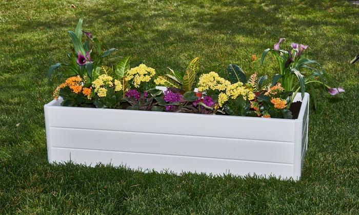 White Raised Patio Garden Box