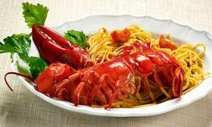 L Aragosta: Menu di pesce con astice o granchio più calice di vino per 2 o 4 persone al ristorante L'Aragosta (sconto fino 63%)