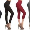 Women's High-Waist Slimming Capri or Long Leggings (3-Pack)