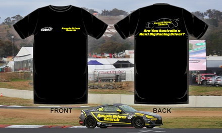 $29 for a TShirt and Free Prize Draw Entry to become a V8 Supercar Driver with Aussie Driver Search