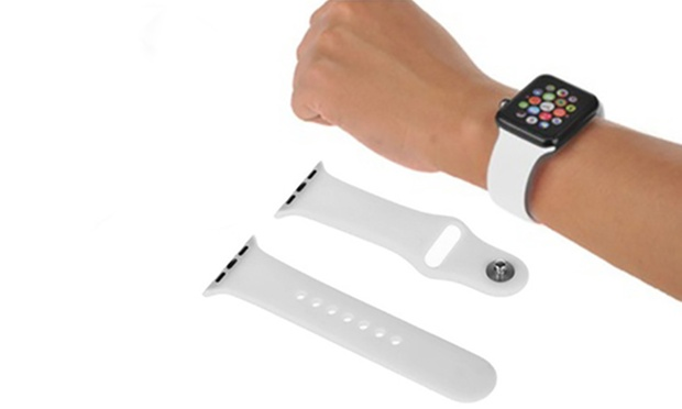 Replacement Sports Band and Screen Cover Case for Apple Watch: One ($14.95) or Two ($19.95)