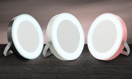 One, Two or Three GloBrite Compact LED Circular Travel Mirrors