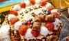 Waffel-Torte mit vielen Toppings