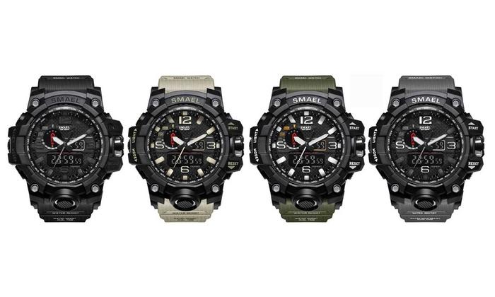 Smael Men's Military Waterproof Sports Watch