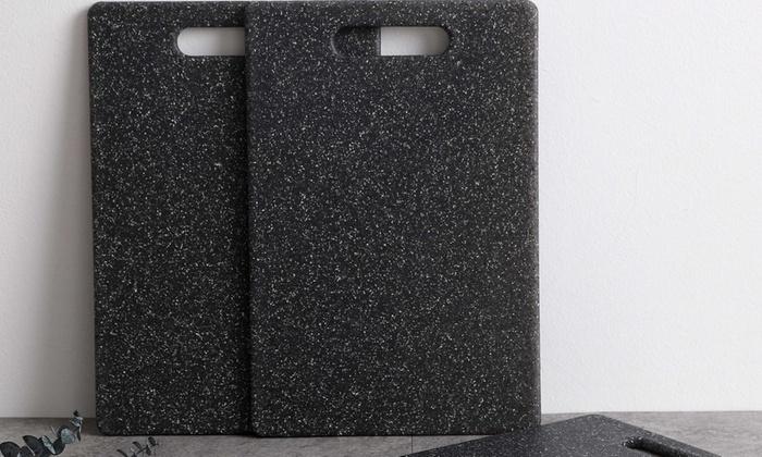 decor innovations 29 for a threepiece faux granite cutting board set