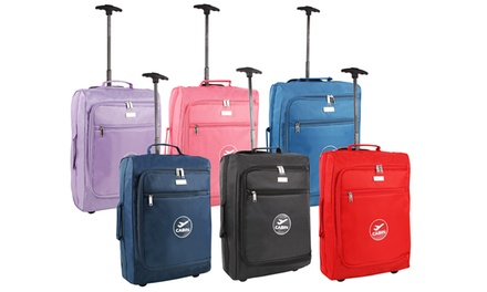 One or Two Cabin Trolley Wheeled Light Luggage Cases