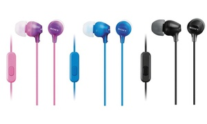 Sony MDR-EX15AP In-Ear Wired Headphones (3-Pack)