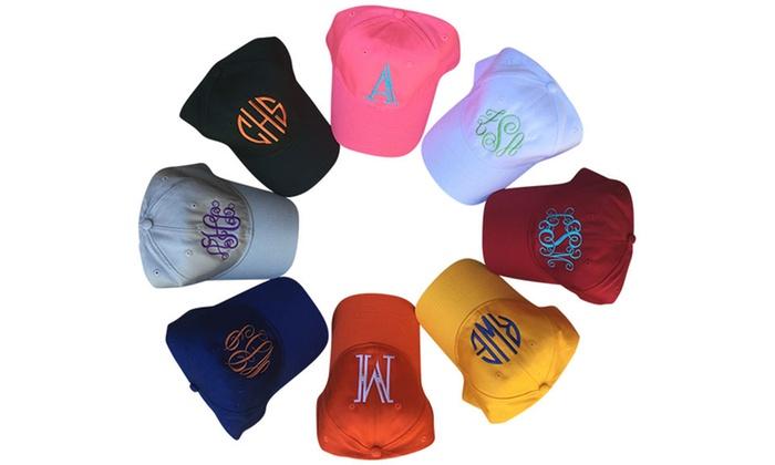 Custom Monogrammed Baseball Cap - Social Monograms  53c0ad5a8514