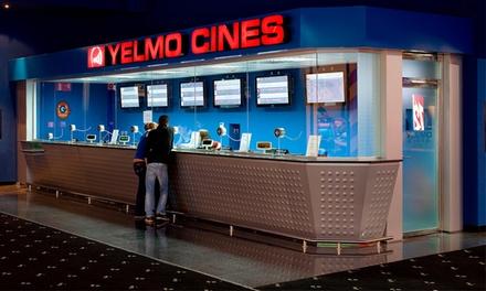Una entrada a Yelmo Cines con opción a menú desde 5,20 € en 31 cines a elegir