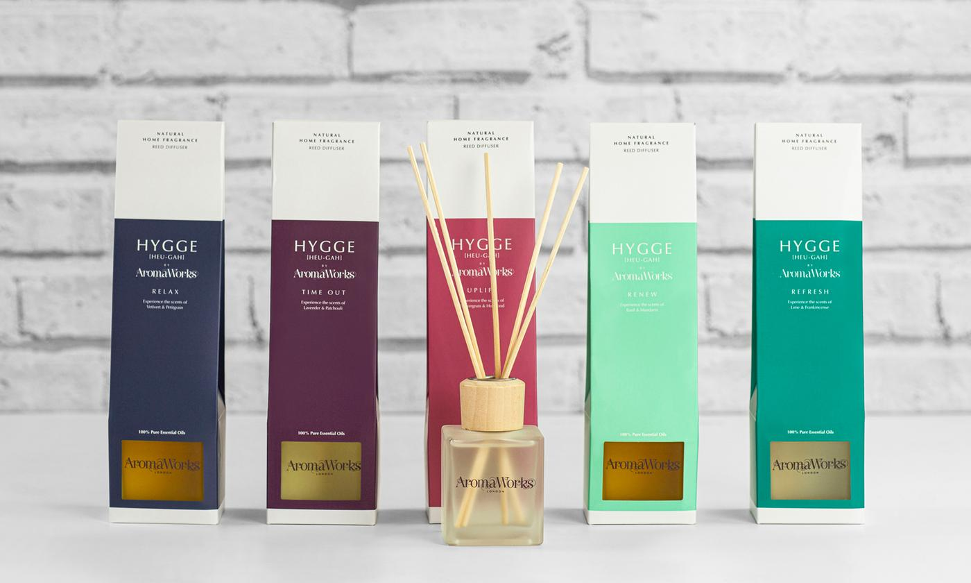 One, Three or Six AromaWorks Hygge Reed Diffusers With Free Delivery