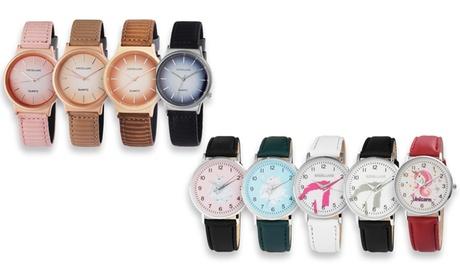 Reloj de acero inoxidable para mujer Excellanc
