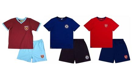 Mens Officially Licensed Football Short Pyjama Set