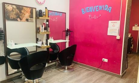 Sesión de peluquería orgánica con opción a tinte y/o mechas en Peluquería Bellas