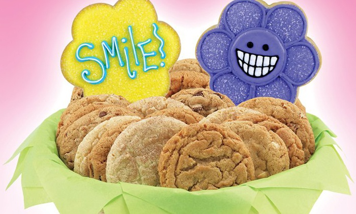 Cookies By Design - Secret Cove: Chocolate-Chip Cookie Cake, One Dozen Gourmet Cookies, or a Cookie Basket from Cookies By Design (Up to 50% Off)