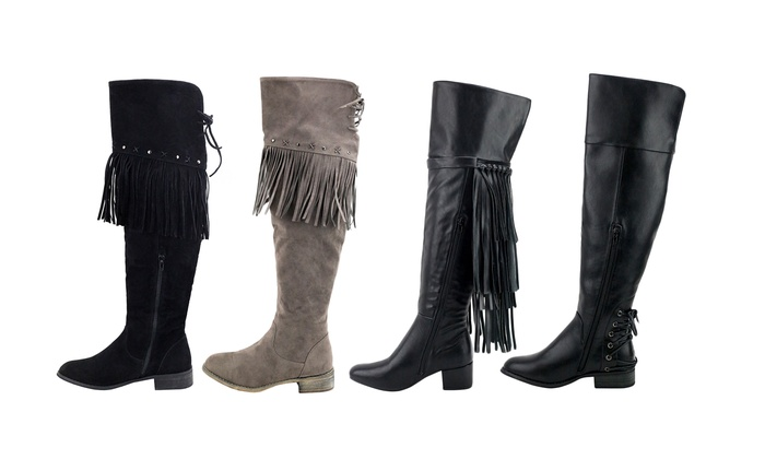 Olivia Miller Women's Over the Knee Boots
