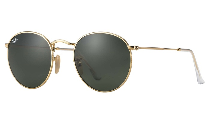 ray ban rb3447 round metal sunglasses 47mm