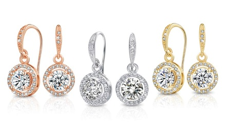 One or Two Pairs of Mestige Liberty Earrings with Crystals From Swarovski® With Free Delivery
