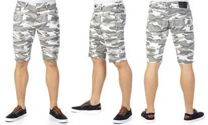 82e707a12c Shop Groupon X-Ray Jeans Men's Camouflage Moto Stretch Denim Shorts