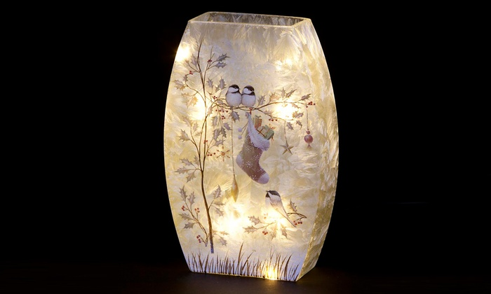 Christmas Vase With Leds Groupon