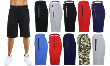 Men's Tech Jogger Shorts with Zipper Side Pockets (S-2XL)