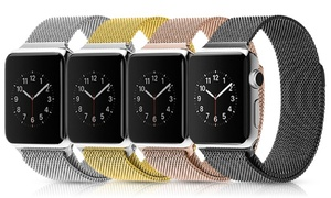 Waloo Leather and Milanese Loop Band Set for Apple Watch (2-Piece)