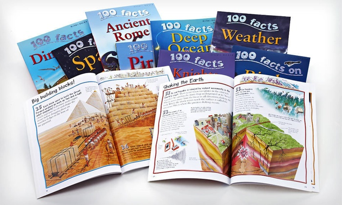 """100 Facts"" 10-Book Children's Sets: $19.99 for a ""100 Facts"" Children's 10-Book Set ($89.50 List Price). Five Options Available. Free Shipping."